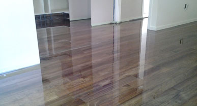 Bailey Road Pine Flooring Stained