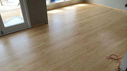 Pine flooring coated in a satin waterbased polyurethane