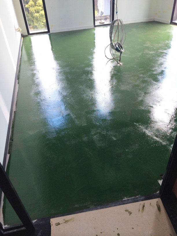 coloured matai flooring with old moisture cured polyurethane