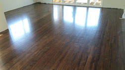 Tawa flooring stained an earth colour