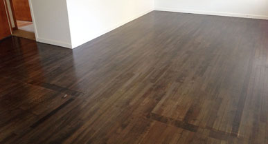 McIntyre Road Tawa Flooring Stained