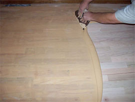 Trowel Filling Timber Floor